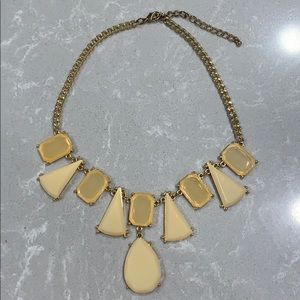 Jewelry - Cream & Amber Statement Necklace